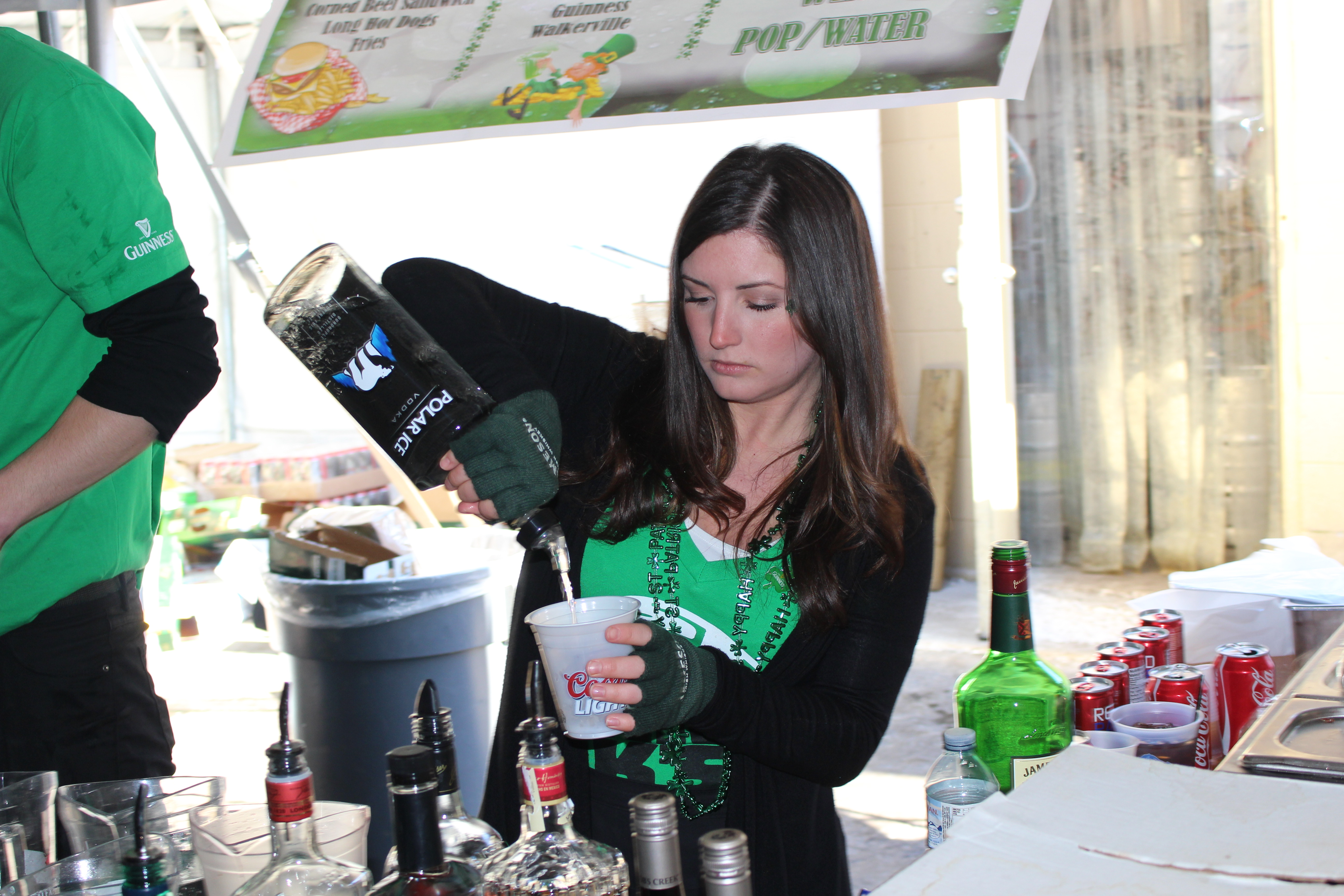 Staff working at Maggio's Kildare House in Windsor on St. Patrick's Day Tuesday March 17, 2015. (Photo by Adelle Loiselle)