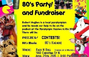 Poster For the 80's Party For Robert Hughes (Photo From Facebook)