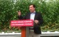 Minister of Economic Development, Infrastrucutre, and Jobs Brad Duguid makes an announcement at a Leamington greenhouse April 24, 2015. (Photo by Kevin Black)