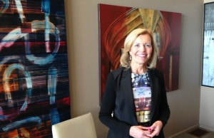 Ontario PC leadership hopeful Christine Elliott makes a campaign stop at the Retro Suites hotel in Chatham on Friday, April 17, 2015. (Photo by Mike James)