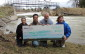 The photo of the $45,000 donation was taken at the Lockerby Dam near Paisley. In the photo is Cherie-Lee Fietsch, left, Environmental Scientist, Environment Programs, Bruce Power; Francis Chua, Manager, Environment & Sustainability, Bruce Power; Wayne Brohman, General Manager, SVCA; and Jo-Anne Harbinson, Manager, Water Resources and Stewardship Services, SVCA.