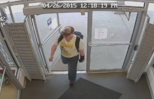Suspect in Factory Direct theft, April 30, 2015. (Photo courtesy surveillance video provided by Windsor Police)