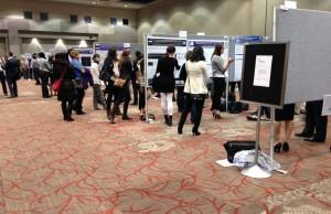 Poster display at London Health Research Day. April 1, 2015. Photo by Brooke Foster