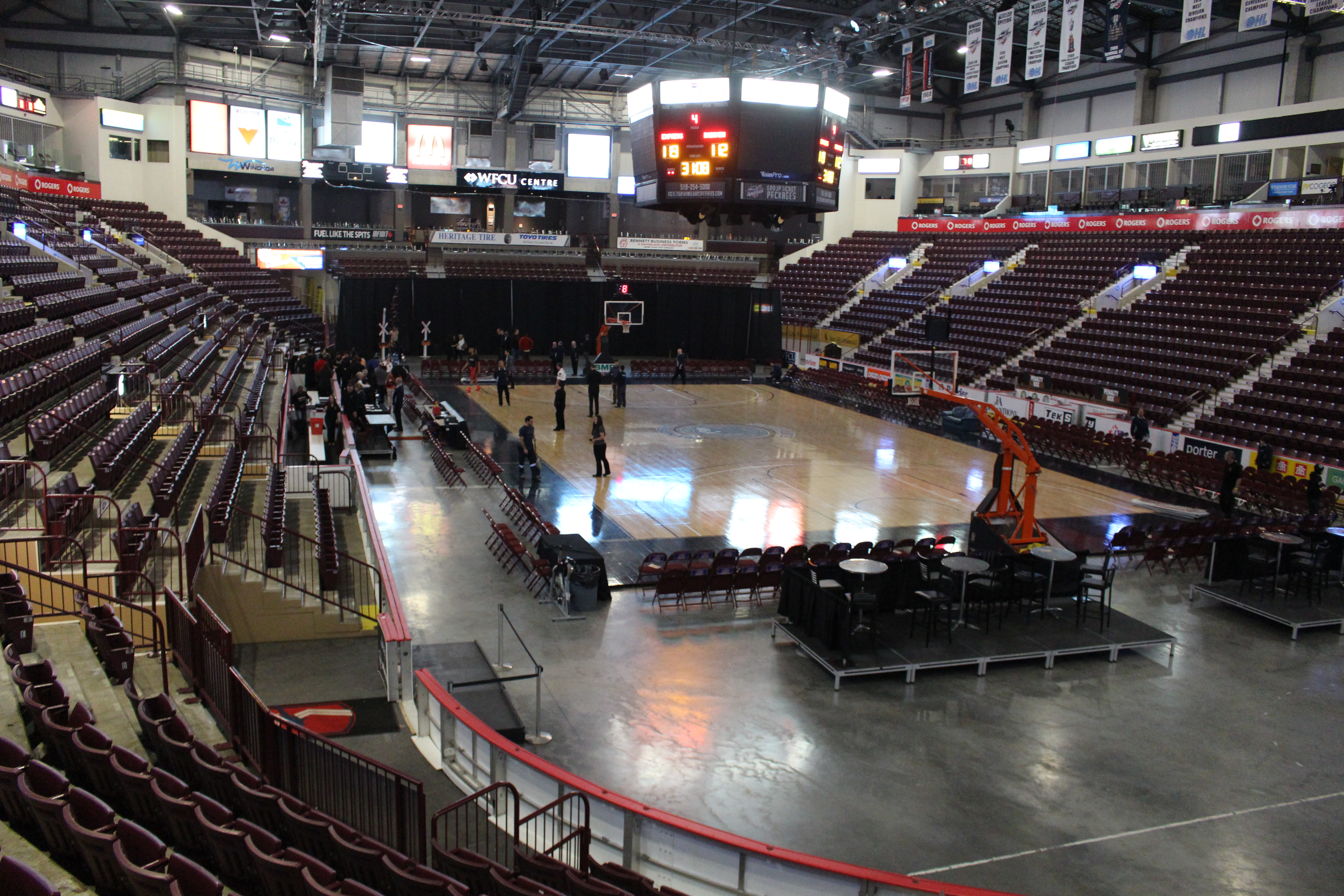 The championship game between the Windsor Express and Halifax Rainmen was cancelled, April 30, 2015. (Photo by Jason Viau)