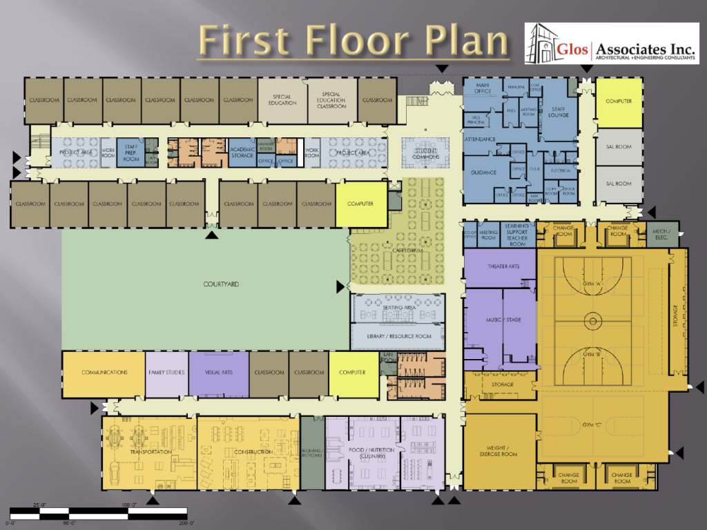 High school floor plan the image kid for New build floor plans