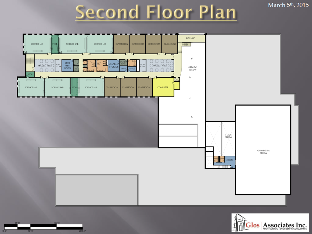 Floor plan drawings for the new leamington district secondary school building photo courtesy kyle berard