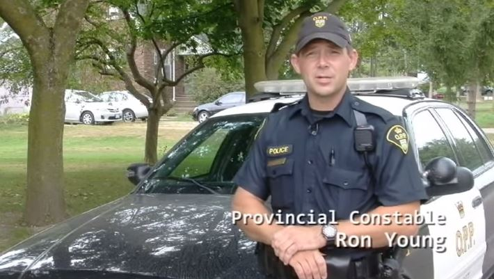 Screen shot from OPP video on seat belt safety