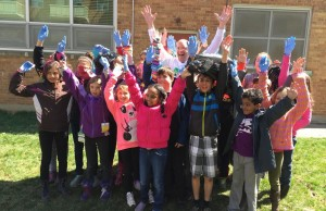 Mayor Matt Brown and students at Eagle Heights Public School take part in the 20 minute challenge. April 24, 2014.