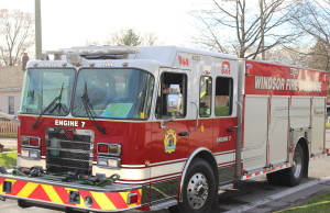 A Windsor fire truck. (Photo by Adelle Loiselle)