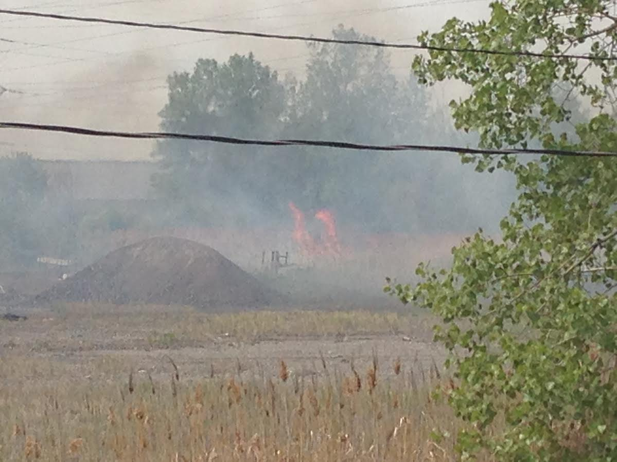 Multiple grass fires in Chemical Valley May 21, 2015 (Photo courtesy of Tori Spanton)