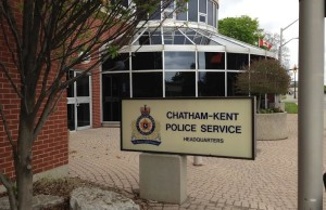 Chatham-Kent Police headquarters May 12 2015 (BlackburnNews.com file Photo by Simon Crouch)