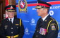 Chatham-Kent Police Chief Gary Conn and former Chief Dennis Poole at Conn's Swearing-In Ceremony (Photo by Jake Kislinsky)