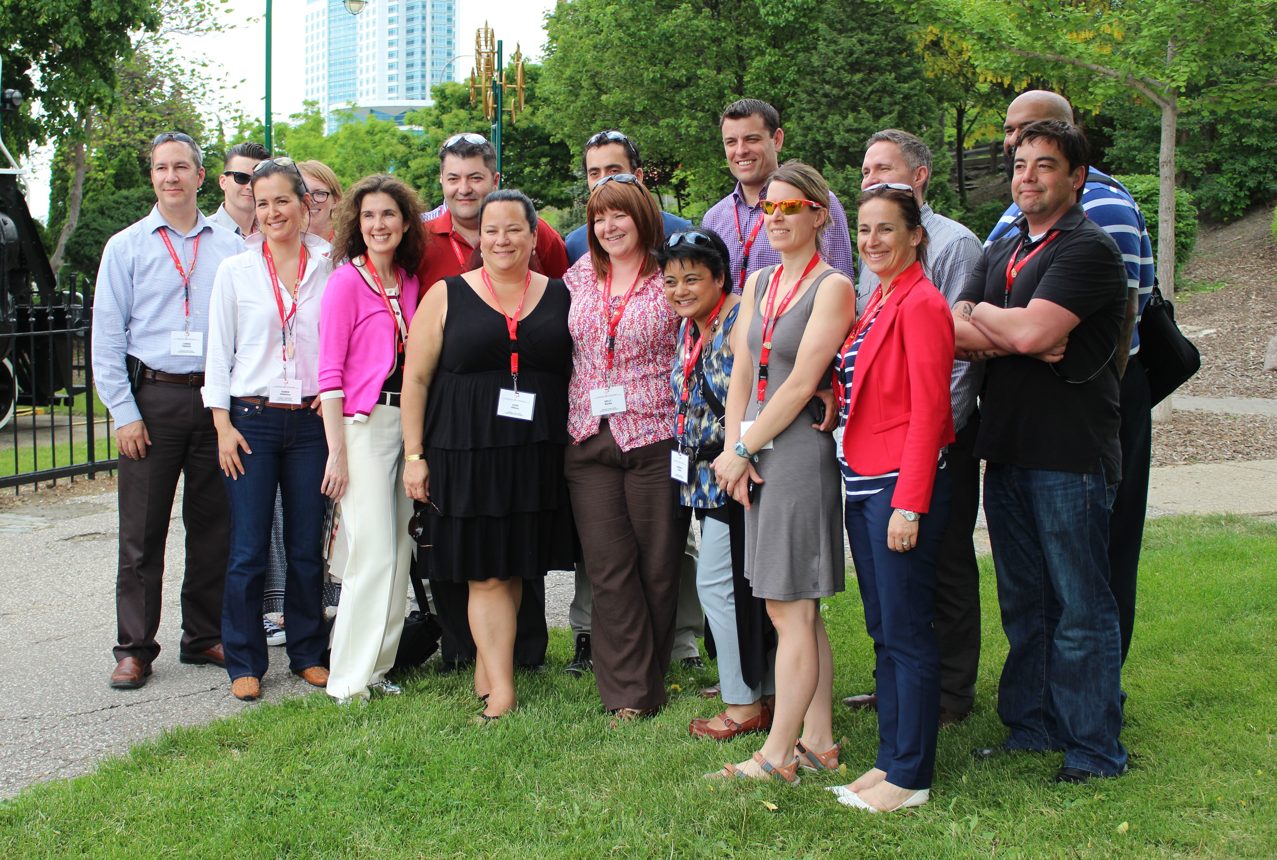 Professionals from various industries across Canada tour Windsor as part of the Governor Generals Canadian Leadership Conference, May 25, 2015. (Photo by Mike Vlasveld)