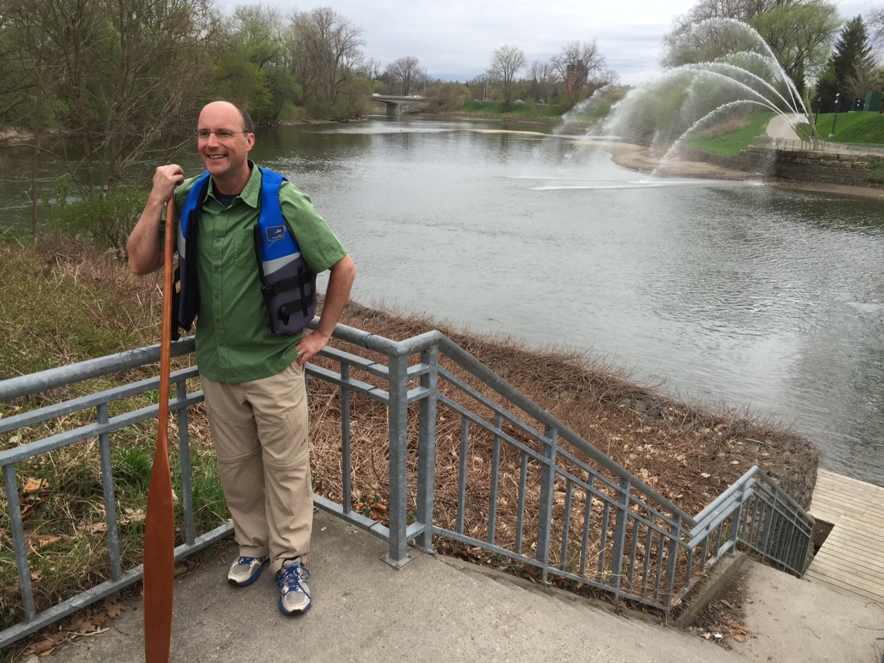 Mayor Matt Brown at the Thames River by Ashton Patis, Blackburn News
