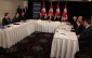 Prime Minister Stephen Harper chairs a roundtable discussion about auto manufacturing at the Waterfront Hotel in downtown Windsor, May 13, 2015. (Photo by Jason Viau)