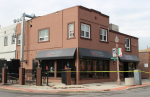 Masaya Cafe and Lounge on Erie St. in Windsor is the scene of a fire investigation, May 21, 2015. (Photo by Mike Vlasveld)