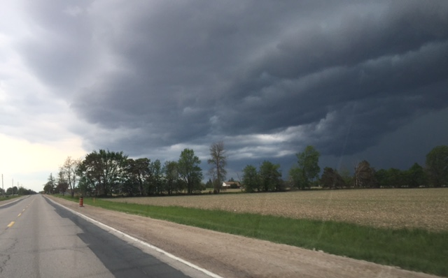 Menacing Storm Clouds May 27, 2015 (BlackburnNews.com photo by Ron Dann)