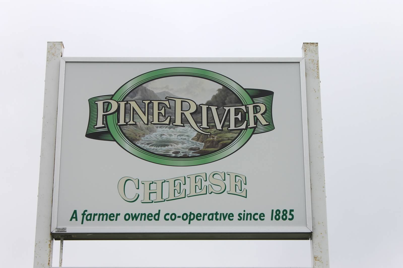 Pine River Cheese Road Sign