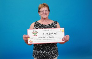 Ruth Butt of Forest Wins Poker Lotto. Photo submitted by OLG May 27, 2015