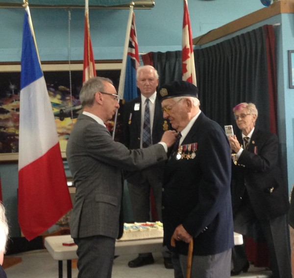 Michael Sydorko receives the French Governments Highest Honour. Photo by Victoria Sartor, Blackburnnews.com.