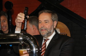 Federal NDP Leader Thomas Mulcair visits Walkerville Brewery in Windsor May 20, 2015. Photo by Adelle Loiselle)