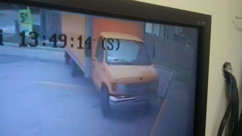 Sarnia Police Looking For Large Orange Truck