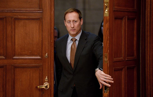 Justice Minister Peter MacKay appears at Commons committee on Parliament Hill in Ottawa on April 27, 2015. Federal Justice Minister Peter MacKay will announce later today that he is leaving federal politics. THE CANADIAN PRESS/Sean Kilpatrick
