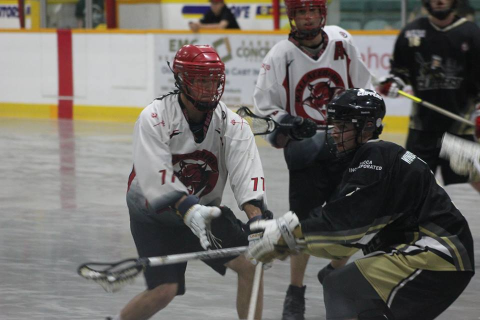 The Wallaceburg Red Devils take on the Windsor Clippers on May 27, 2015. (Photo courtesy of Jocelyn McLaughlin)