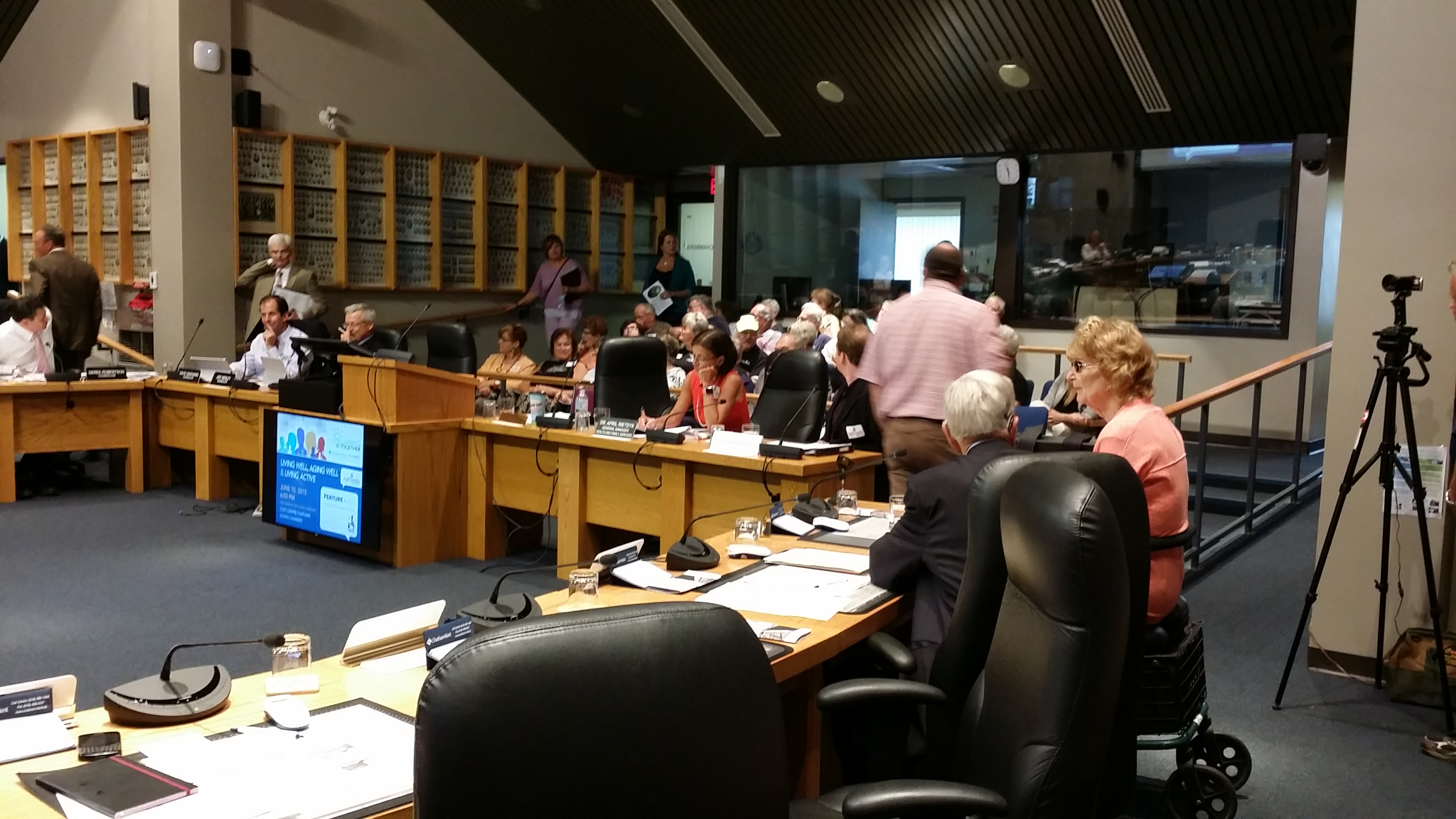 "Seniors gather in Chatham-Kent Council Chambers for a ""Living Well, Aging Well"" Forum (Photo by Jake Kislinsky)"