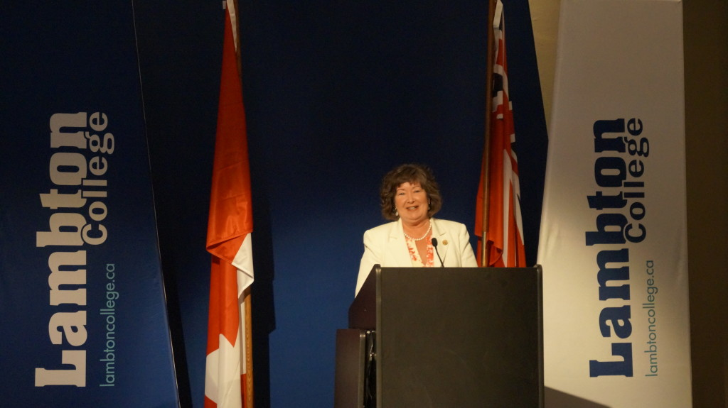 Cambridge MPP Kathryn McGarry says $10-million of provincial funding will go towards the health centre. June 24, 2015 (BlackburnNews.com Photo by Briana Carnegie)
