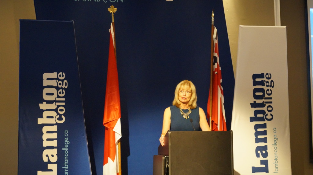 Lambton College President Judith Morris says it's been a long journey leading up to this day. June 24, 2015 (BlackburnNews.com Photo by Briana Carnegie)