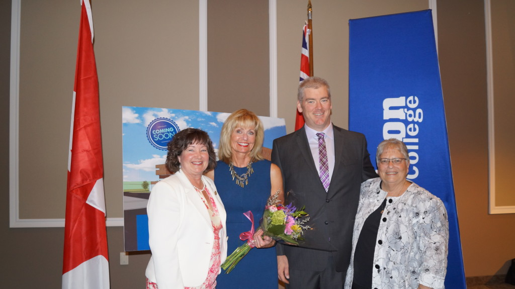 Lambton College receives $20-million in federal and provincial government funding for the Centre for Health Education and Sustainable Care. June 24, 2015 (BlackburnNews.com Photo by Briana Carnegie)