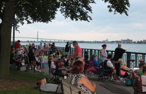 Thousands attend the 2015 Detroit Ford Fireworks Display along Windsor's waterfront on June 22, 2015. (Photo by Ricardo Veneza)