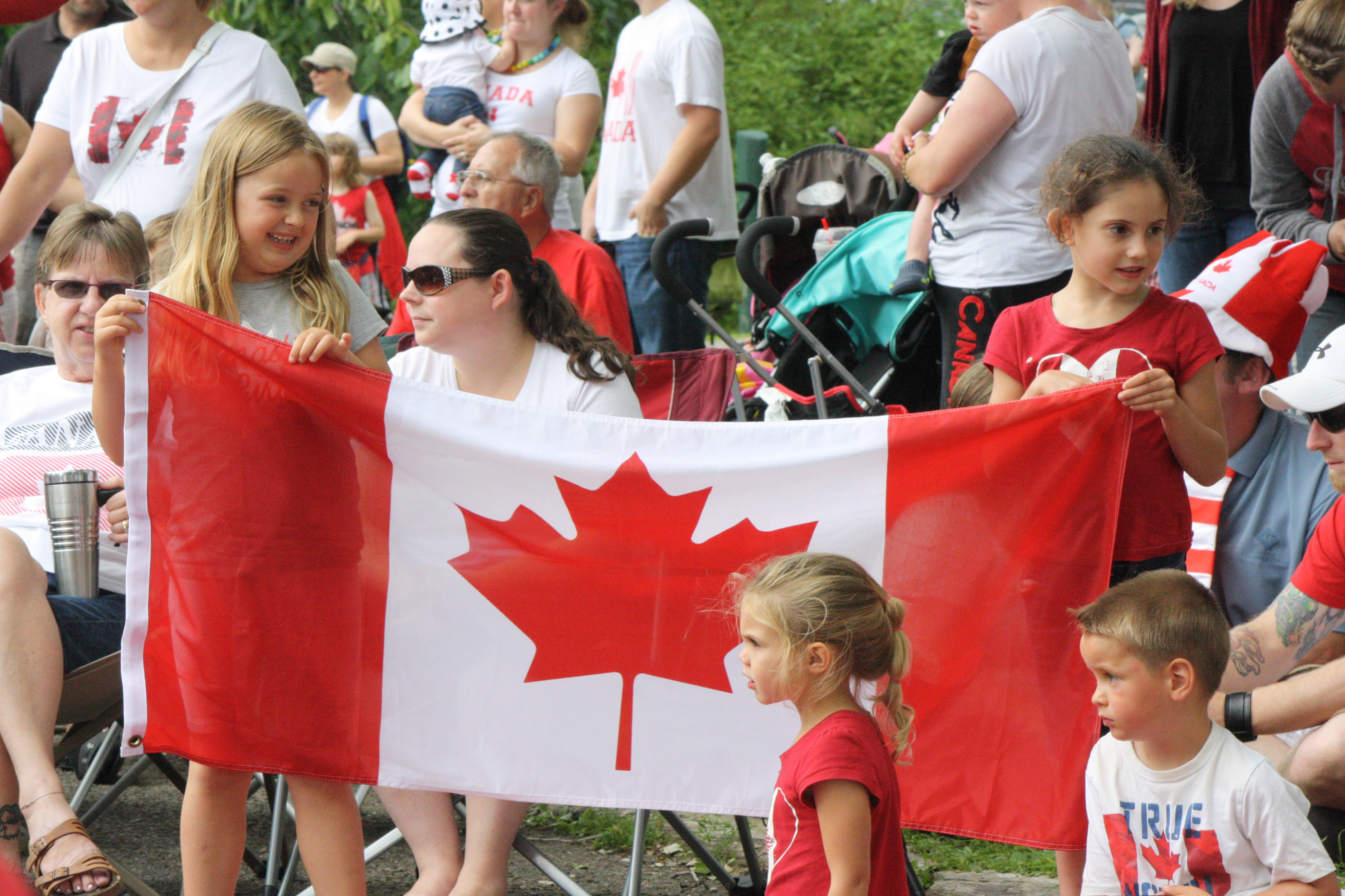 Thousands line the parade route for Sarnia's annual Canada Day parade July 1, 2015 (BlackburnNews.com photo by Dave Dentinger)