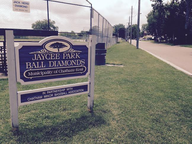 Chatham's Jay Cee Park ball diamonds June 18, 2015 (Photo by Simon Crouch)