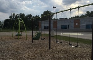 Maitland River Elementary School playground, Wingham.  June 2015 Photo by Ryan Brandt