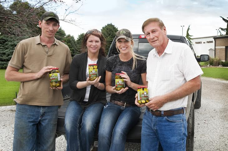 The owners of the Pickle Station (from left) Jeff VanRoboys, Kelly Deline, Krystle VanRoboys, Don VanRoboys. (Photo Courtesy Krystle VanRoboys)