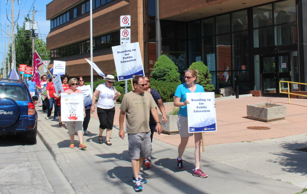 Teachers Rally GECDSB June 2015
