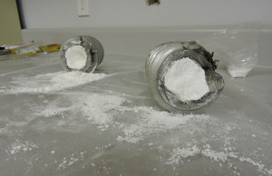 Cocaine concealed within a metal auger. (Photo courtesy of Windsor RCMP)
