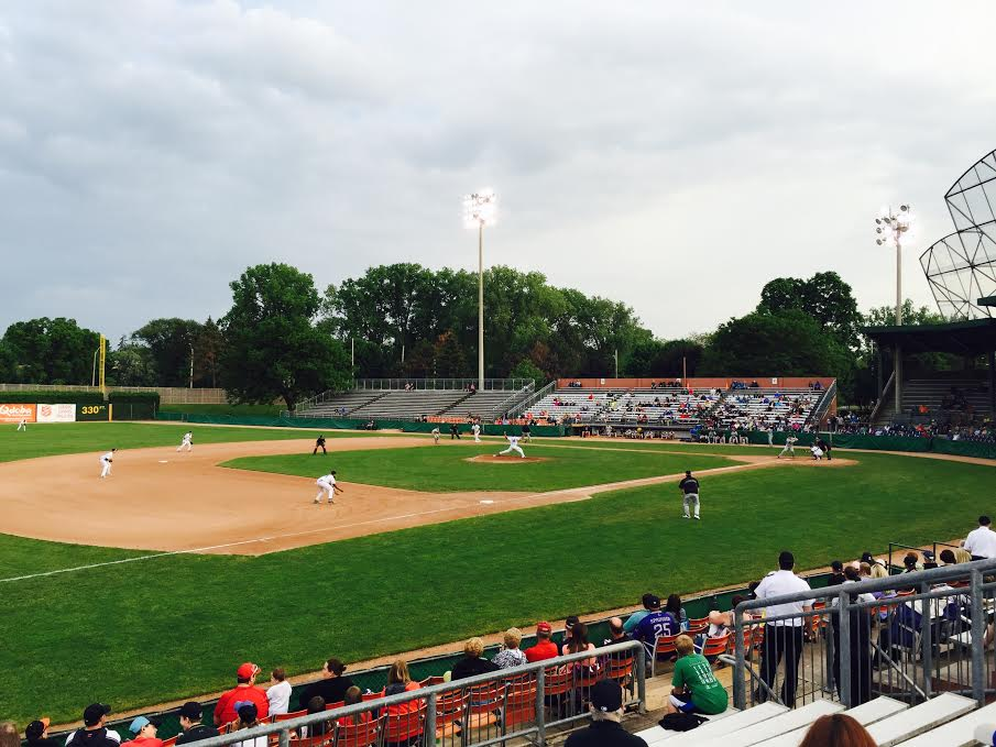 The London Majors take on the Kitchener Panthers at Labatt Park, June 5, 2015. (Photo courtesy of Blair Henatyzen)