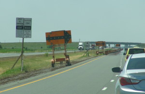 Construction on Highway 401 near Tilbury (Photo by Jake Kislinsky)