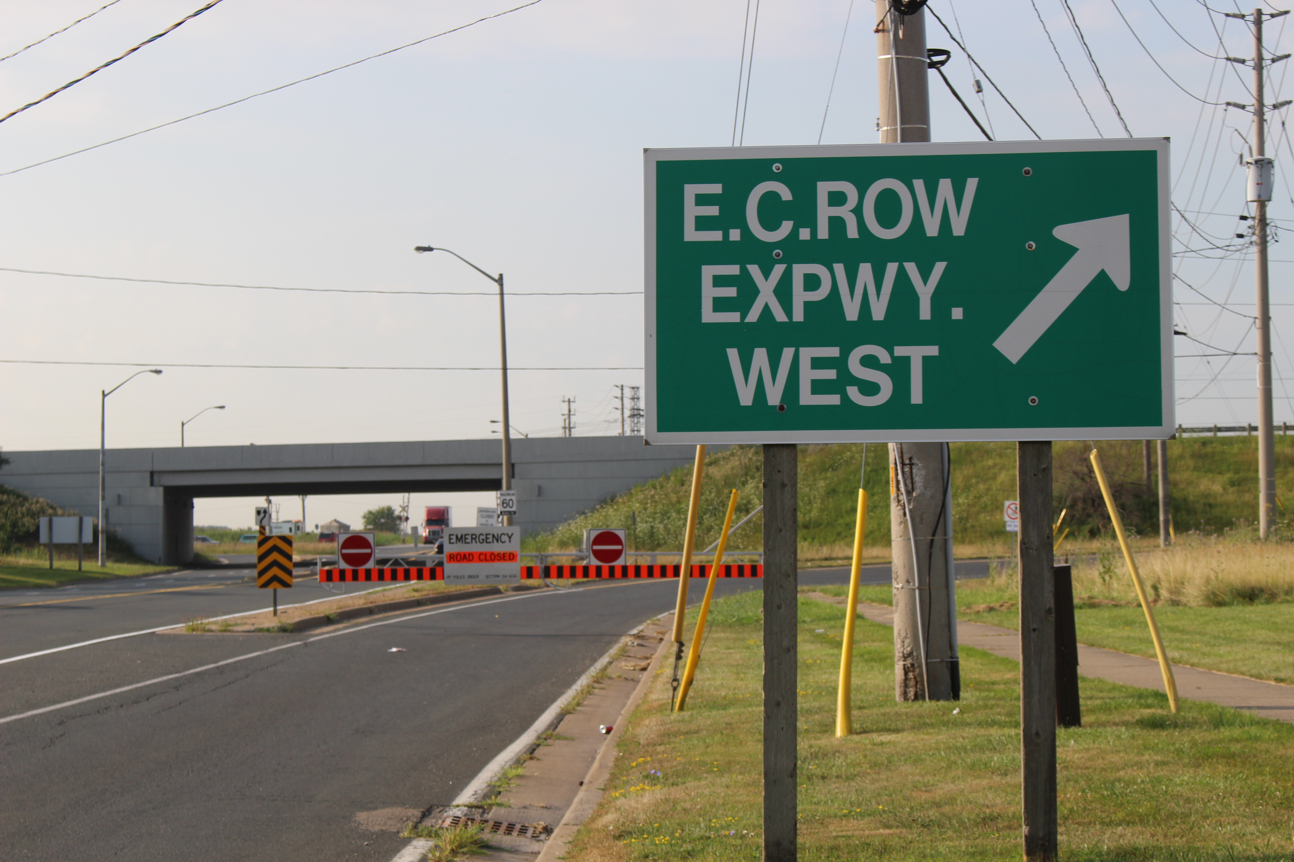 Jefferson Blvd. at the E.C. Row Exwy. in Windsor July 29, 2015. (Photo by Adelle Loiselle)