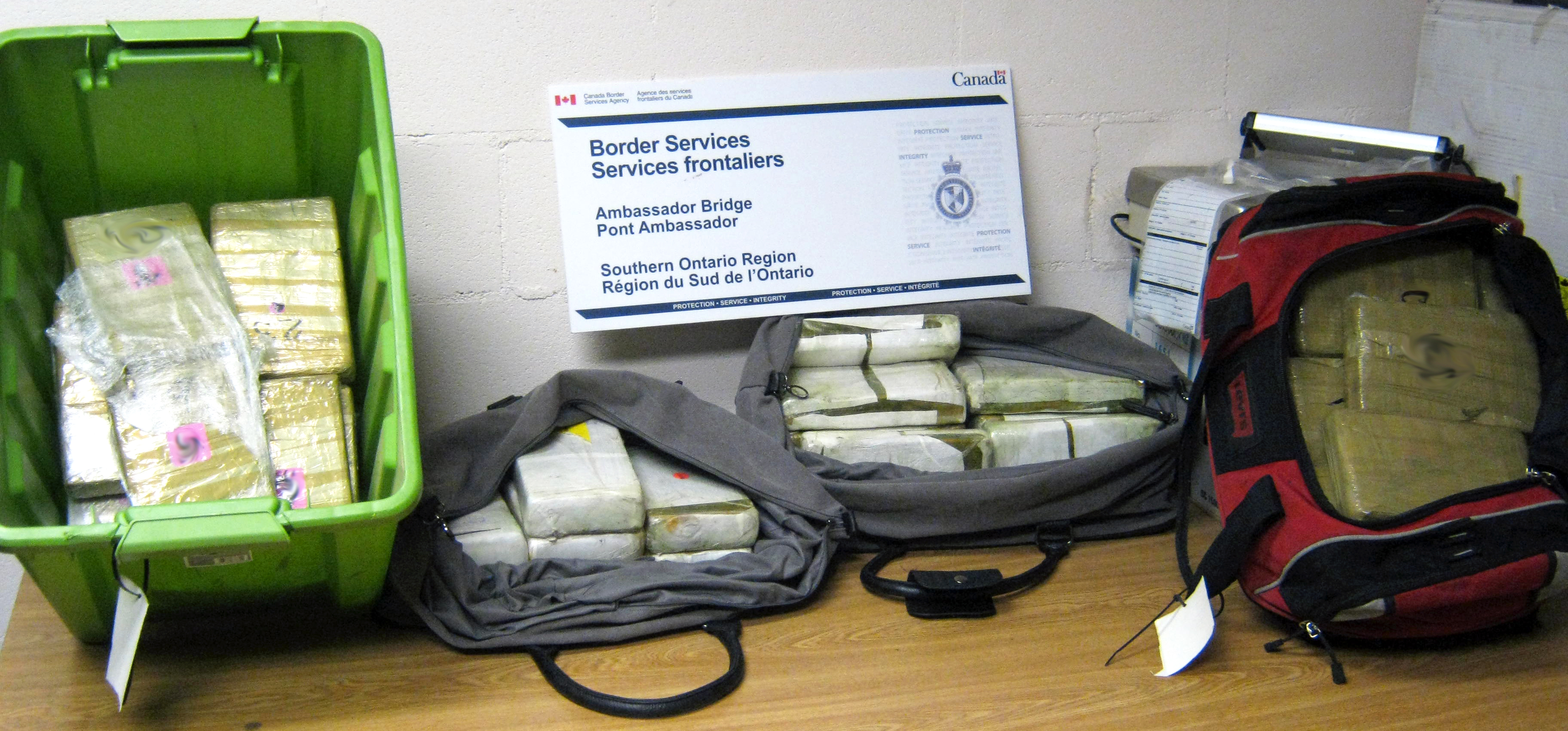 Cocaine Seizure At Ambassador Bridge