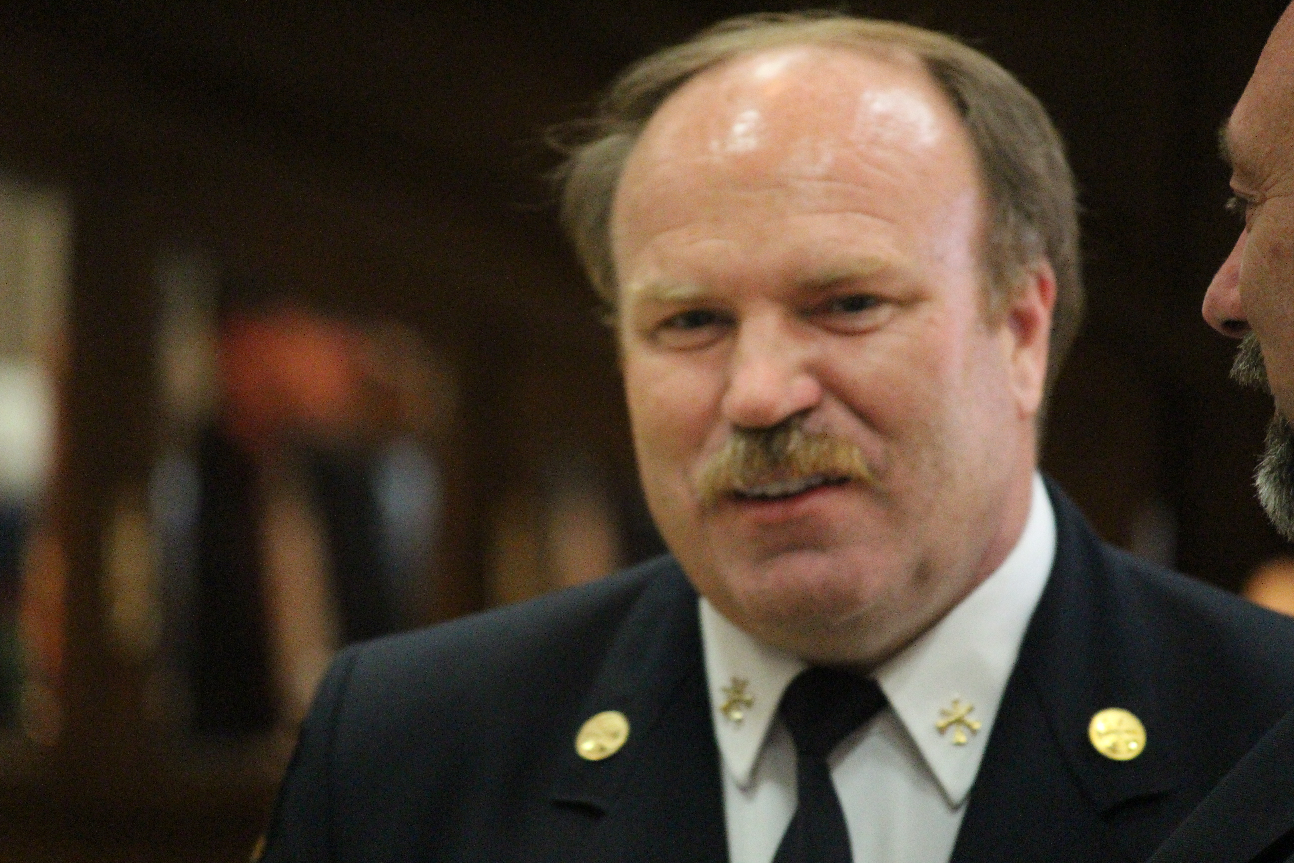 BlackburnNews.com file photo of acting Windsor fire assistant chief Dave Hart, July 2, 2015. (Photo by Jason Viau)