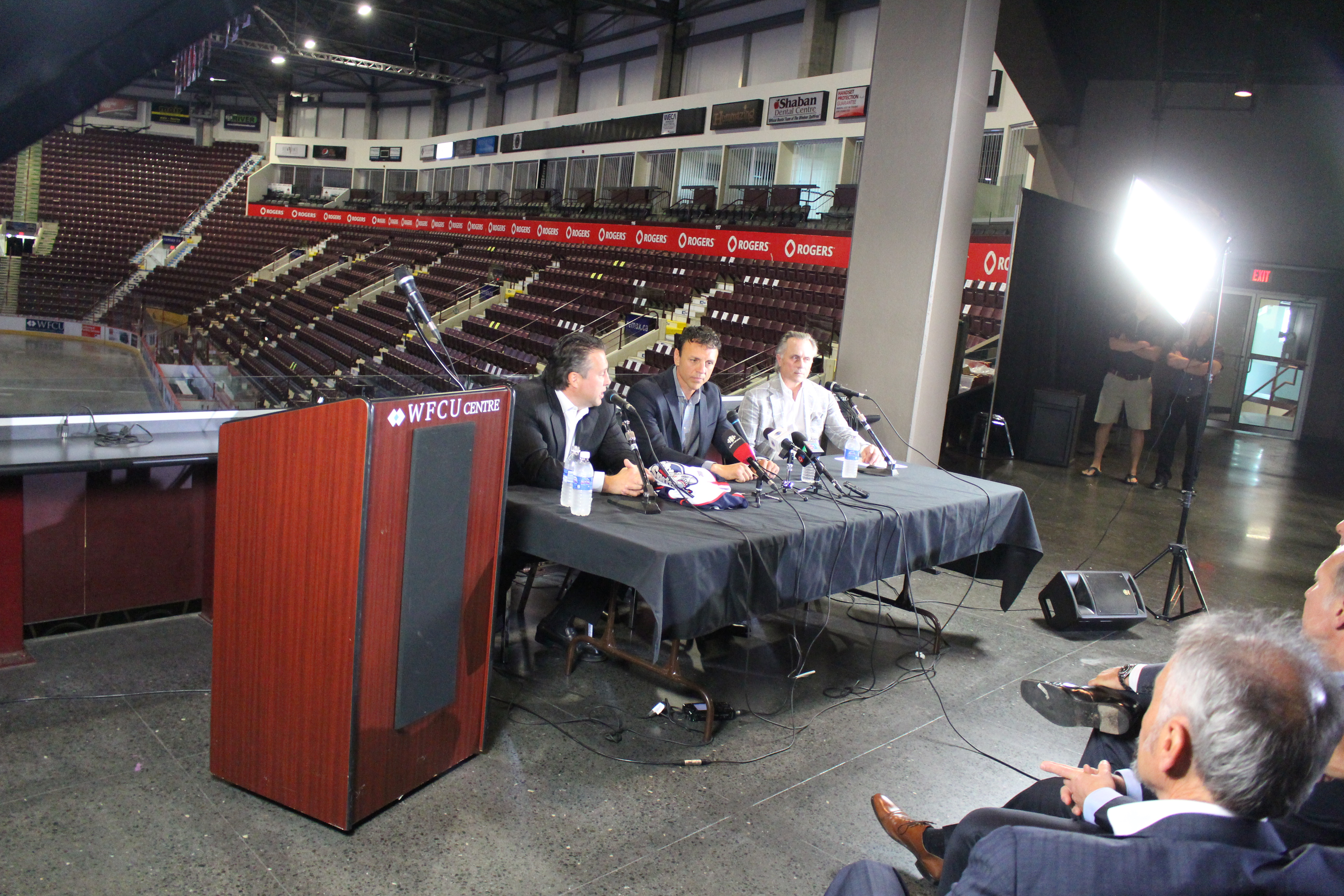 Windsor Spitfires announce Rocky Thompson as the team's new head coach, July 3, 2015. (Photo by Jason Viau)