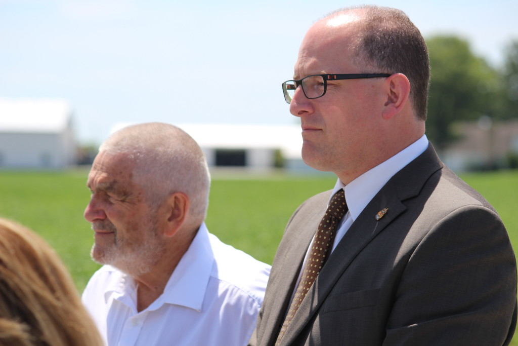 Dilkens and Bain at hospital site
