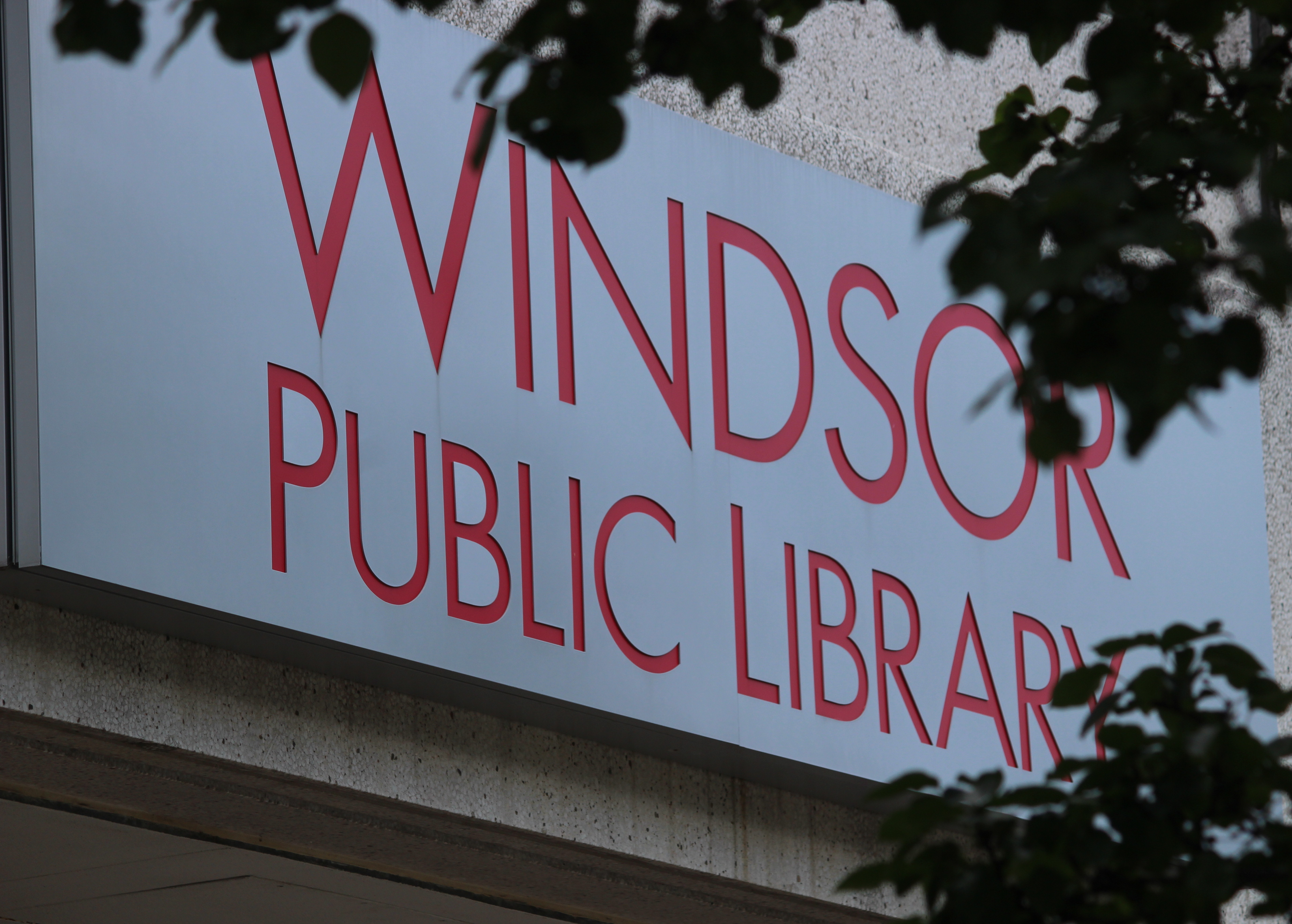 BlackburnNews.com file photo of the Windsor Public Library, July 23, 2015. (Photo by Jason Viau)