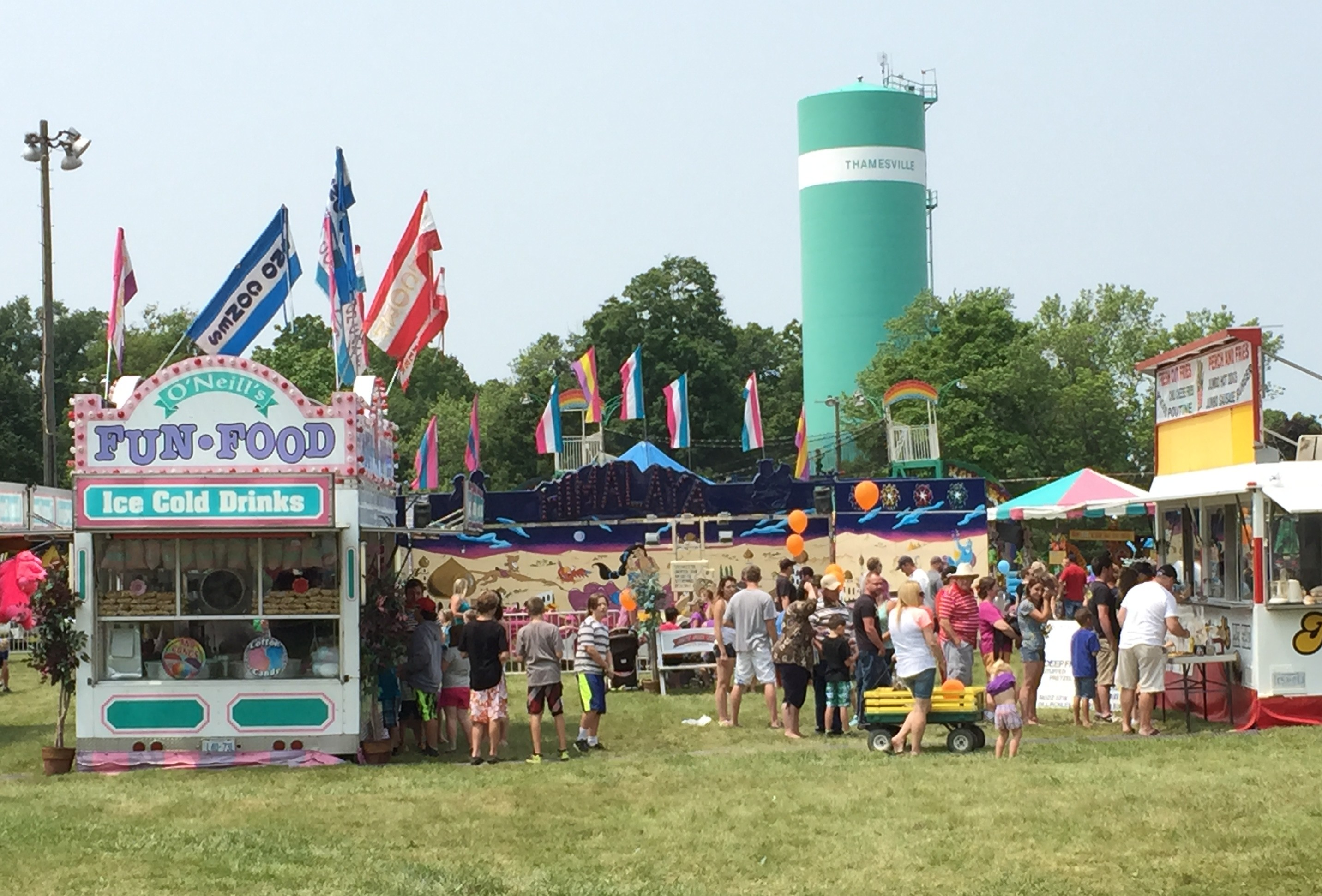Residents from Thamesville and the surrounding area attend the 40th annual Threshing Festival in Thamesville, July 4, 2015. (Photo by the Blackburn Radio Summer Patrol)