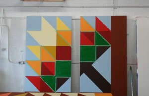 A section of the Thames River Barn Quilt Trail yet to be completed (Photo courtesy of the Chatham-Kent Quilter's Guild)