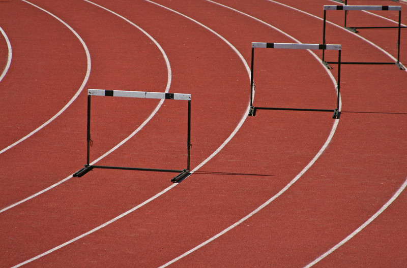 Hurdles. © Can Stock Photo Inc. / jpavan